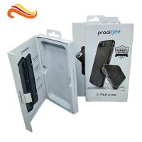 Buy cheap Phone case packing box with hanger / magnet electronics packaging box with ribbon product