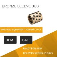 Buy cheap Highest Strength Standard Size C95400 Aluminum Bronze Graphite Plugged Bronze Sleeve Bushing product