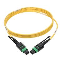 Buy cheap 12 fiber pulling type female MPO MTP Single Mode APC Fiber Patch Cables for QSFP 40 / 100 Gb product