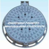 Buy cheap Ductile iron manhole cover cast iton square and round EN124 manhole cover and frame product