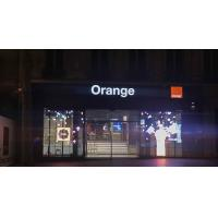 Buy cheap Transparent LED Display Shinning for Orange France 85% Light Go Through Vivid Color product