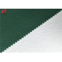 China Polyester Tricot Fleece Fabric Warp Knitting Brushed School Uniform Material on sale