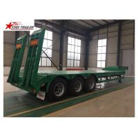 Buy cheap 50T Payload Equipment Hauling Trailers , Custom Colors Heavy Equipment Hauling Trailers product