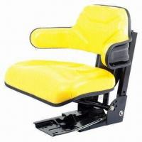 China Tractor Seat with Yellow Vinyl Material on sale