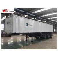 Buy cheap Box 3-4 Axles Flatbed Container Trailer 60-100Tons Dry Food Van Transport product