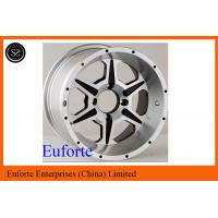 Buy cheap SUV 15 inch Silver 4 x 4 Off Road Wheels Lip Aluminum Alloy With Custom Caps from wholesalers