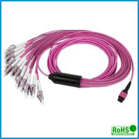 Buy cheap Customized Multi Color MPO To MPO Cable , 24 Fibers Multimode Patch Cord product