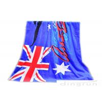 "Buy cheap 30""*60"" Velour Custom Printed Beach Towels With Australian Flag product"