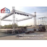 Buy cheap Light Duty Stage Light Truss , Spigot Overhead Square Truss System 400 X 60mm Size product
