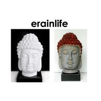 China White Brown Home Decorating Accessories polyresin Buddha Head on sale
