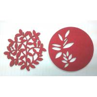 China 7cm Red Fine Promotional Coaster Gifts Cheap Home Decorative Items of Paper Cuts Pictures on sale