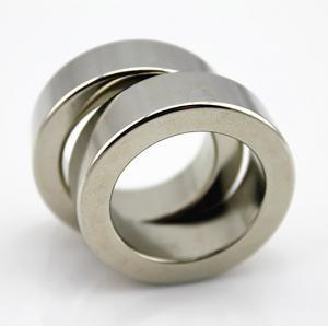 China Zinc , Nickle Coating Rare Earth Neodymium Ring Magnets , neodymium iron boron magnets on sale