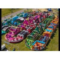 China 3 years Guaranteed Adrenaline Rush Extreme Inflatable Obstacle Course on sale