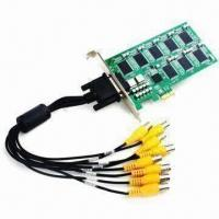 Buy cheap PCI-E Real-time 8CH DVR Card, Supports IE Browser, DDNS IP, 120 FPS Capture Card, Designed by FPGA T product