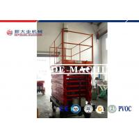 Buy cheap Red Electric Hydraulic Lift Platform OEM Mobile Self Propelled Scissor Lift product