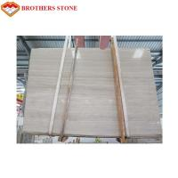 Buy cheap Athens White Wood Vein Marble , Big Marble Slab Stone Eco - Friendly product