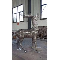 Buy cheap 2019 China Stainless Steel Elk Wapiti Metal Sculptures For Garden Wall Art from wholesalers