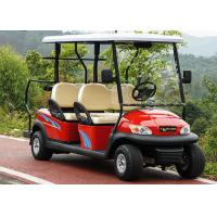 Quality Red Color 4 Seater Golf Cart Electric Car , Electric Street Legal Vehicles for sale