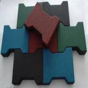 Buy cheap Dog Bone Shaped Rubber Sports Flooring , Sports Flooring Interlocking Tiles product