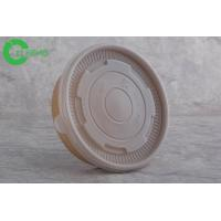China Custom logo print food grade durable kraft paper disposable food container 25oz with PP lid on sale