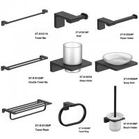 Buy cheap SENTO Black color Stainless Steel Wal Mounted Bathroom Accessories Set product