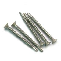 Buy cheap CSK Head Compound Self Drilling Screw , Flat Head Bi Metal Self Drilling Screws product