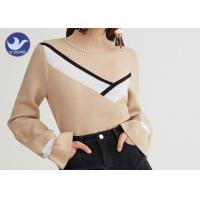 Buy cheap Mock Neck Fashion Womens Knit Pullover Sweater Computer Machine Knit product