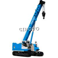 Buy cheap 3m Lifting range Hydraulic Crawler Crane for piling , 1.79rpm Slewing speed product