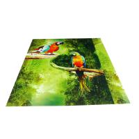 Buy cheap Parrot Pattern Green Plastic Commercial Ceiling Panels No Cracking product