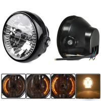 "Buy cheap Universal Amber LED Round 7"" Motorcycle Headlight With Turn Signal For Harley Chopper Cafe Racer Bobber from Wholesalers"