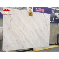 Buy cheap Backlit Pink Vein White Marble Tile Natural Rose Rainbow Onyx product