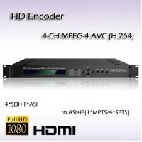 Buy cheap 4-Channel HD/SD-SDI TO IP MPEG-4 AVC/H.264 HD AAC Audio Encoding IPTV Encoder from wholesalers