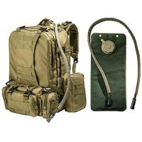 Buy cheap 2.5L Tactical Hydration Backpack Hydration Water Bladder With 3 Molle Bags product