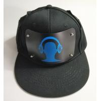 Buy cheap wholesale advertising LED Cap Party Custom Sound Activated EL Hat Light Up  El Flashing Music Cap With Inverter product