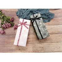 Buy cheap Swan And Fether Print Cardboard Gift Boxes , Birthday Gift Box With Glitter Braid product