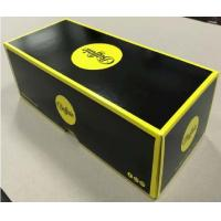 Lid And Base Cardboard Shoe Boxes Black Yellow Easy To Disassemble Customized