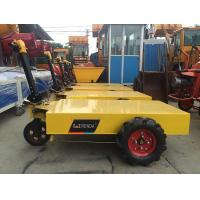 Buy cheap Small Mortar Rendering Machine , Construction Machinery Wheel Trolley Electric Pallet Mobile Cart product