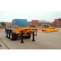 Flatbed Shipping Container Delivery Trailer High Efficiency For Port Transport