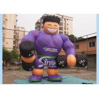 Buy cheap Purple Shirt Advertising Inflatables Muscle Man Commercial Grade for promotion used product