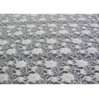 Buy cheap Washable Brushed Floral Lace Stretch Fabric / NylonCotton Spandex Fabric CY-LQ0043 product