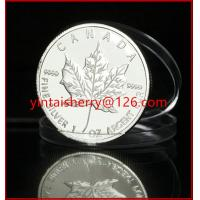 Buy cheap Silver leaf mirror-matt effect metal coin for sale product