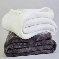 Buy cheap Custom Double Ply Sherpa Flannel Plush Blanket For Hotel / Home / Office Throws product