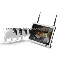 NVR with LCD Screen 4CH 720P Bullet WIFI IP Cameras Support P2P Wireless Surveillance System
