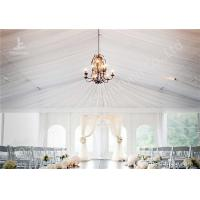 Buy cheap White Water Repellent PVC Fabric Cover Aluminum Frame Wedding Decoration Tent product