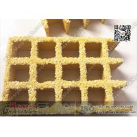 Buy cheap 38X38mm Yellow Color Molded Fiberglass Grating | USCG Certificated product