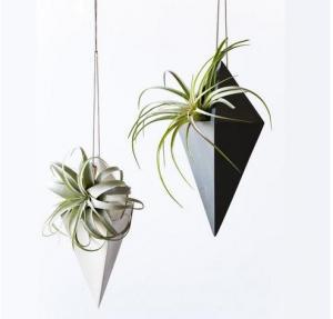 Buy cheap Diamond Shape Cement Flower Vase Concrete Pendant Planter Pot With Handing String product