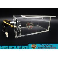Buy cheap 6 Decks Casino Poker Card Box With Lock / Metal Handle Easy To Carry product