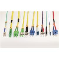 Buy cheap LSZH Single Mode Fiber Optic Patch Cord SC FC LC ST Type With Custom Length product
