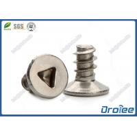 """Quality 304/316 Stainless Triangular Countersunk Head Type """"B"""" Tamper Resistant Screws for sale"""