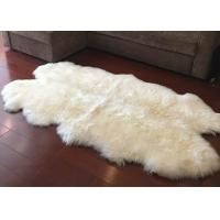 Buy cheap Real Sheepskin Rug Large Ivory White Australia Wool Area Rug 4 x 6 ft 4 Pelt product